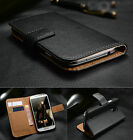 Vintage Real Genuine Leather Wallet Flip Stand Case Cover for HTC ONE M9 M8 M7