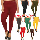 PLUS SIZE WOMEN TUMMY TUCK HIGH WAIST FLEECE THICK LINED WINTER LEGGINGS SOLID