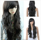 Hot Sell Fashion Long Black Brown Straight Wavy Women's Lady's Hair Wig Wigs+Cap