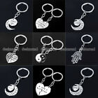 Best Bitches BFF Broken Heart Best Friends Forever Chain Pendant Keyring Gifts