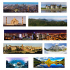 Landscape Cityscape long Panorama Posters Prints New York Seattle Skylines