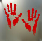 Bloody Zombie Hand Print Car Vehicle Window Wall Decal Vinyl Sticker Chirstmas