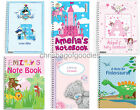 PERSONALISED A5 PAPER NOTEBOOK Gifts for Girls Boys Childrens Kids Present Idea