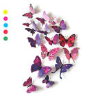 12Pcs 3D Butterfly Wall Decals Removable Sticker Kids Room Nursery Decoration