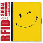 SMILE FACE GENUINE LEATHER RFID ANTI THEFT PASSPORT WALLET ORGANIZER COVER