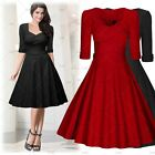 MIUSOL Womens Celebrity Fitted Cocktail Party Swing short Flared Skirts Dresses