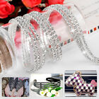 10 Yard Glitter Clear Glass Close Crystal Rhinestone Sewing Craft Chain Trim
