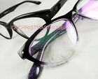 Cat eye Women Eyeglass frame optical plastic vintage style black/purple fade New