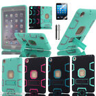 Shockproof Heavy Duty Hybrid Rubber Tough Case Cover Stand For iPad Mini 1 2 3 4