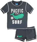 Number One Little Boys' Toddler Whale Pacific Surf Rash Guard Swim Short Set