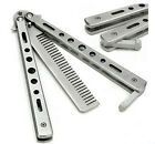 Convenient Stainless Steel Practice Training Butterfly Balisong Style Comb HFUS