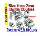 WORM DRIVE, FUEL, WATER, HOSE CLIPS, JUBILEE TYPE VARIOUS SIZES ZINC PLATED