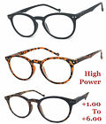 Round Matte Plastic Frame Reading Glasses Readers John Lenon fr 1.00 to  6.00