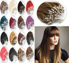 100%Real Remy Human Hair Extensions Loop Silicone Micro Ring Beads Link Straight