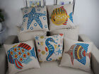 "Seafloor World 18""x45cm Decor Cotton Linen Cushion cover Pillowcase"