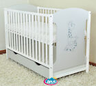Baby cot bed with drawer / baby cots / cot beds / baby cot / MIKI 4 colors