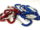 NEW Set of 10 ALUMINUM CARABINERS for Disc Golf Bag; attach towel, hat, etc.