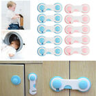 10pcs Baby Child Kids Safety Lock Adhesive Cupboard Cabinet Door Fridge Drawer