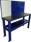 Heavy Duty Industrial Steel Frame Work Station with Storage Shelf and Tub Holder