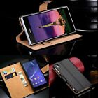 Premium Leather Stand Flip Book Wallet Case Cover For All Sony Xperia Models