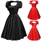 NEW Ladies 50's Vintage Style Rockabilly Swing Hollowed Back Picnic Party Dress