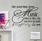 Bob Marley Quote Vinyl Wall Decal Music When it hits you You feel No Pain decor