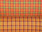 Orange Homespun Fabric | Primitive Fabric | Quilt Fabric | Home Decor Fabric