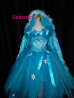 2015 Queen Elsa Frozen dress & Cape (Disney Inspired)  & diamante's age 2-12
