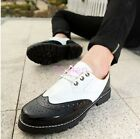 Mens Punk British Style Lace Up Assorted colors Wing tip Brogue Oxfords Shoes