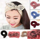 NEW Turban knit Headband women Crochet Bow head wrap Knot hair band Ear Warmer