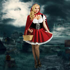 Sexy Women Little Red Riding Hood Cosplay Costume Fancy Dress Party Size S-2XL