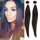 AU Stylish Straight 100% Real Human Hair Extension 50g/pc Black Hair Wefts