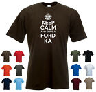 'Keep Calm and Drive a Ford Ka' Funny Ford Car Birthday Gift t-shirt