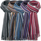 * WHOLESALE JOB LOT * 12 x MENS TRADITIONAL STRIPED CLASSIC SMART WINTER SCARF