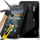 S-Line Wave Gel Case✔Tempered Glass LCD Screen Guard for Huawei Y635