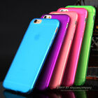 Candy Color Transparent TPU Soft Gel Phone case for iPhone 5c 5s 6s plus Cover