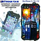 TOUGH Waterproof CASE COVER iPhone 5 5S 5C 6 Doctor WHO Tardis Painting DR9