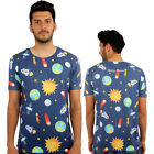 Nasa Space Rocket 3D Print Fitted T-Shirt Urban Life Monkey Business Hip Hop Top