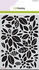 Craft Emotions A5 Mask BACKGROUND FLORAL Embossing Stencil Cardmaking 1125