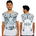 Jewel Skull 3D Print Fitted T-Shirt Urban Life Monkey Business Hip Hop Top