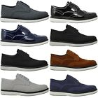 Mens New Casual Black Blue Brown Grey Suede Lace Up Shoes SIZE 6 7 8 9 10 11