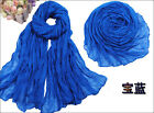 Womens Girl long Scarf soft Silk Chiffon Wrap Shawl Pashmina Scarves Candy Color