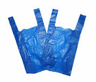 BLUE PLASTIC VEST CARRIER BAGS MEDIUM/LARGE SHOPS PARTIES 11