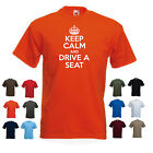 'Keep Calm and Drive a Seat' Funny Mens Car t-shirt