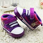 Toddler fashion girls purple crib shoes sports shoes size 0-6 6-12 12-18 months