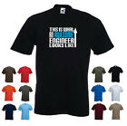 'This is What an Awesome Engineer Looks Like' Engineering Birthday Funny T-shirt