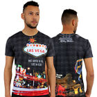 Dream Of Venice 3D Print Fitted T-Shirt Urban Life Monkey Business Hip Hop Top