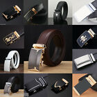Fashion Men\'s Genuine Leather Automatic Buckle Brown Waist Strap Belt Waistband