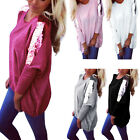 Fashion Ladies Sequins Loose Casual Long Sleeve Batwing Tee Shirt Tops Blouse