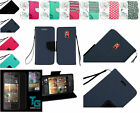 Tempered Glass+PU Leather Wallet Pouch Case Cover w/Strap For HTC Desire 612